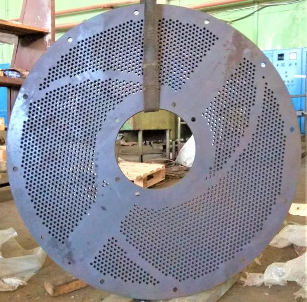 Сито промышленное для гидроразбивателей, сортировки, перфорация сверлением