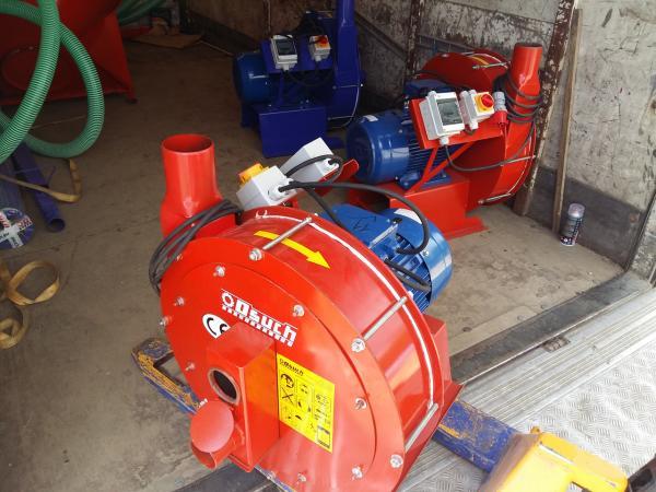 Зернодробилка молотковая дробилка ДКУ подрібнювач зерна 22 кВт червоний Osuch