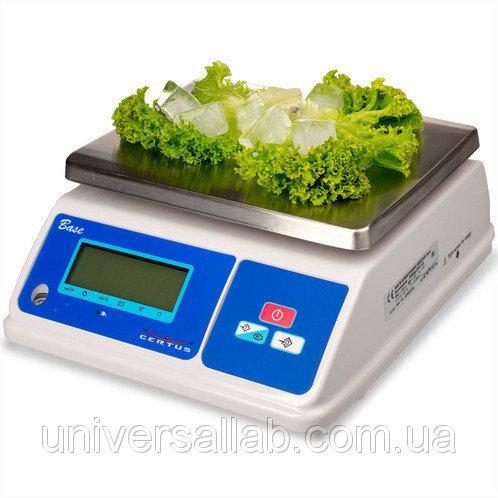 Вологозахищені ваги Base CBСв-1,5/3-0,5/1 (до 3 кг, пластик)