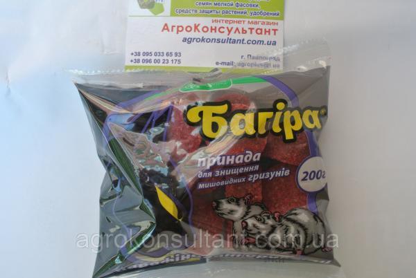 Багира, парафиновые брикеты, 200 г, готовая приманка от мышевидных грызунов