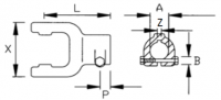 Вилка наружная под крестовину 36×89 мм, Benzi