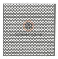 Решета с круглыми отверстиями, расположенными по шестиграннику