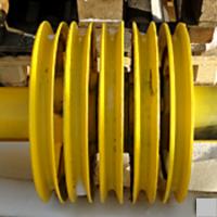 Ось верхнего портала с блоками 720.115-74.10.8 кран гусеничный РДК-250, TAKRAF