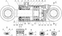 Гидроцилиндр стрелы 6908-4613010-01 погрузчик МоАЗ-40484, МоАЗ-750511