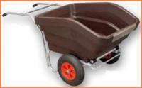 Ручная опрокидываемая тележка для раздачи кормов, модели 330 и 600 л
