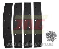 Комплект тормозных накладок (4 шт + заклепки) CLAAS 631866.01
