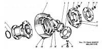 Фланец ВЦ50/12.031 к дизельным двигателям Д49