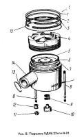 Кольцо компрессионное 5Д49.22-04 к дизельным двигателям Д49