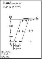 Нож 012490 к пресс подборщику Claas Markant 52-55-60-65
