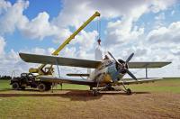 Внесение сыпучих минеральных удобрений авиационным методом