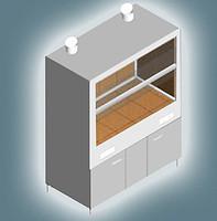 Шкаф вытяжной для работы с агрессивными средами ШВ-2К-1.5