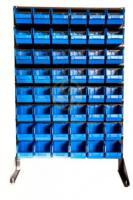 Стеллаж для склада с пластиковыми ящиками 1500 мм.