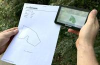 Прибор для измерения площади полей