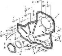 Крышка корпуса распределительных шестерен 3958112 двигатель Cummins ISLe 310, 340, 375