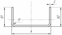 Швеллер 160х80х3х6000 мм