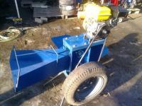 Измельчитель веток -дровокол с приводом от бензинового двигателя (+ конус)