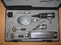 Ветеринарный набор отоскоп, офтальмоскоп, риноскоп + насадка с зеркалами