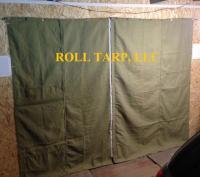 Шторы брезентовые для гаражных ворот и складских помещений