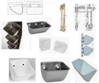 Ковши норийные стальные, полимерные, разлычных размеров