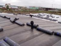 Ремонт крыши, укладка еврорубероида