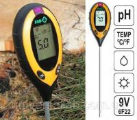 Профессиональный анализатор почвы 4 в 1 FLO 89000 (РН, влажность, освещённость, температура). Польша