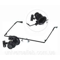 Лупа-очки монокулярные 20х (раб. расстояние: 1-2см, раб. поле: 1см2) с подсветкой Magnifier 9892A-I