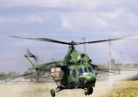Десикация подсолнечника вертолетом и дельтапланом