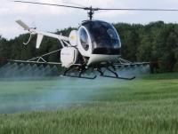 Авіахімобробка пшениці дельтопланом гвинтокрилом