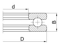 Подшипник 51105 (8105) ZVL Slovakia