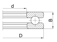Подшипник 51106 (8106) ZVL Slovakia