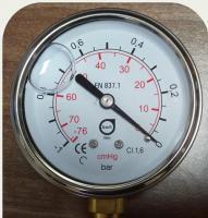 Вакууметр глицериновый радиальный Bart DN 63, G1/4'' -1/0 Bar (-1/0 MPa)