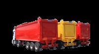 Полуприцеп для бытовых отходов Hidro-Mak с автономным двигателем