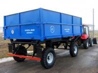 Прицеп тракторный 2ПТС-4,5 цельнометаллические надставные борты