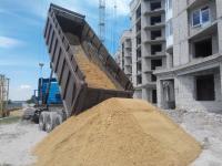 Оптовая поставка строительного песка по Николаевской области