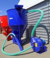 Зернодробилка молотковая дробилка ДКУ подрібнювач зерна 11 кВт синій Osuch