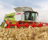 Уборка урожая комбайнами Claas Lexion, John-Deere, New Holland