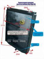 Радиатор водяной для комбайна CLAAS MEGA 208