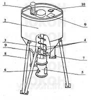 Бункер накопитель блока грануляции ОГМ-1.5