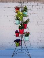 Кованая подставка для цветов СПИРАЛЬ 12