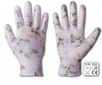 Перчатки садовые Bradas RWNF8 NITROX FLOWERS, размер 8