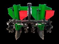 Картофелесажалка двухрядная, 90 л с бункерами для минудобрений, для мини и мото тракторов