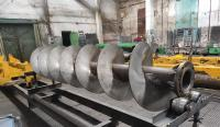 Изготовление шнеков больших диаметров из нержавеющей стали