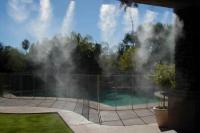 Монтаж систем туман охлаждения в беседки кафе и домов