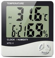 Цифровой термометр, часы, гигрометр LCD 3 в 1 HTC 1