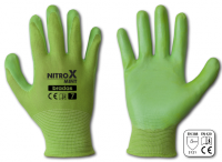 Перчатки рабочие Nitrox mint, нитрил, размер 8(M)