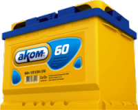 Аккумулятор Аком для автомобиля