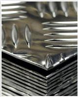 Рифленый лист - алюминий, нержавейка, черный и оцинкованный металл